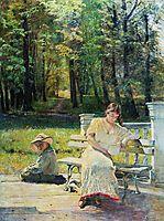 Olenka and Kolya on the Steps, c.1900, makovsky