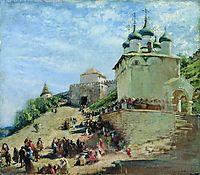 On the square in Ivanovo Congress Nizhny Novgorod Kremlin, c.1890, makovsky