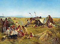 Peasant Dinner during Harvesting, 1871, makovsky