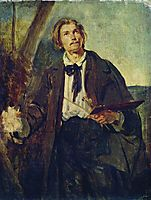 Portrait of Artist Alexander Popov, c.1850, makovsky
