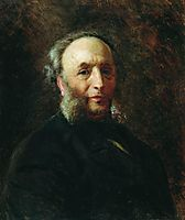 Portrait of the Artist Ivan Aivazovsky, 1887, makovsky
