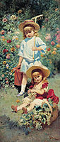 Portrait of Artist-s Children, 1882, makovsky