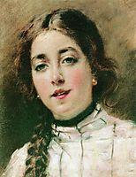 Portrait of Artist-s Daughter Olya, c.1900, makovsky