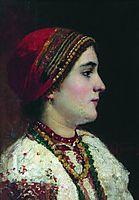 Portrait of the Girl in a Ukrainian Dress, makovsky
