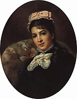 Portrait of Margarita Savina, makovsky