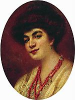 Portrait of the Woman with Coral Beads, makovsky
