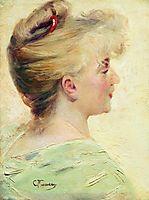Portrait of the Young Lady, c.1890, makovsky