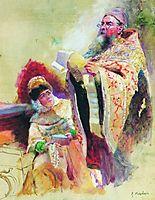 Priest and Boyarynia, makovsky