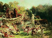 Spring Bacchanalia, 1891, makovsky