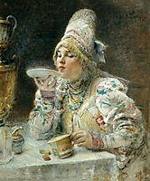 Tea Drinking, 1914, makovsky
