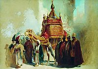 The transfer of the sacred carpet from Mecca to Cairo, makovsky
