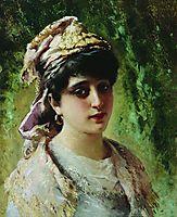 Woman Head, c.1890, makovsky