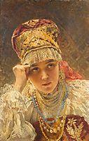 A Young Boyarynia, makovsky