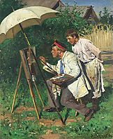 The artist and the apprentice, makovskyvladimir