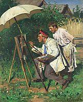 The artist and the apprentice, makovskyvladimir