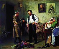 The artist, selling old stuff to Tatar (Artist-s Studio), 1865, makovskyvladimir