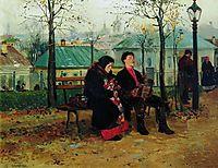 At the Boulevard, 1887, makovskyvladimir