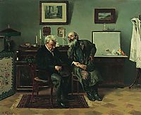 At the doctor-s, 1900, makovskyvladimir