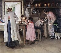 At the kitchen, 1913, makovskyvladimir