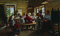 At the village school, 1883, makovskyvladimir