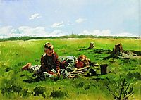 Boys in the field, makovskyvladimir