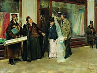 The Choice of Wedding Presents, 1898, makovskyvladimir