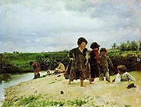 From the rain, 1887, makovskyvladimir
