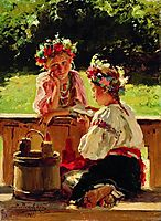 Girls lightened by sun, 1901, makovskyvladimir