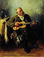 Guitar player, 1879, makovskyvladimir