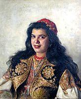 A gypsy lady, 1875, makovskyvladimir