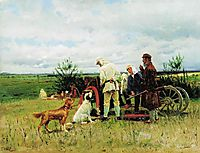 Hunters at Rest, 1887, makovskyvladimir