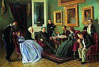 Literary reading, 1866, makovskyvladimir