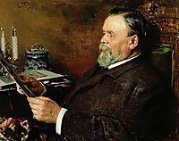 Lover of painting. Portrait of a collector I. E. Tsvetkov., 1907, makovskyvladimir