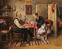 Morning tea, 1891, makovskyvladimir