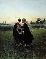 Mother and daughter, 1886, makovskyvladimir