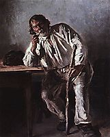 Old man with a pipe, 1881, makovskyvladimir