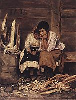Over the chips, 1892, makovskyvladimir