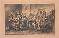 A Party, 1875, makovskyvladimir