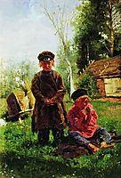 Peasant boys, 1880, makovskyvladimir