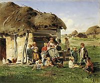 Peasant children, 1890, makovskyvladimir