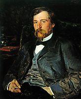 Portrait of the Artist Illarion Mikhailovich Pryanishikov, 1883, makovskyvladimir
