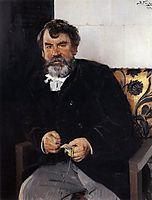 A portrait of E. S. Sorokin, 1891, makovskyvladimir