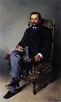 Portrait of I. E. Tsvetkov, 1890, makovskyvladimir