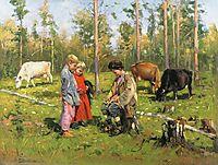 Shepherds, 1904, makovskyvladimir