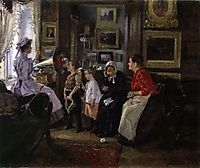 They listen the gramophone, 1910, makovskyvladimir