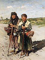 Two pilgrims, 1885, makovskyvladimir