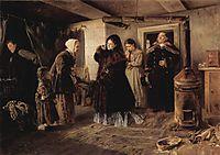 Visiting a poor people, 1874, makovskyvladimir