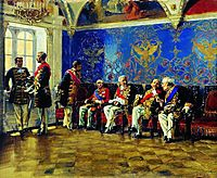 Waiting for an Audience, 1904, makovskyvladimir