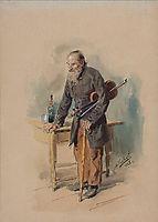 Wandering fiddler, 1886, makovskyvladimir