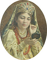Young Lady Looking into a Mirror, 1916, makovskyvladimir